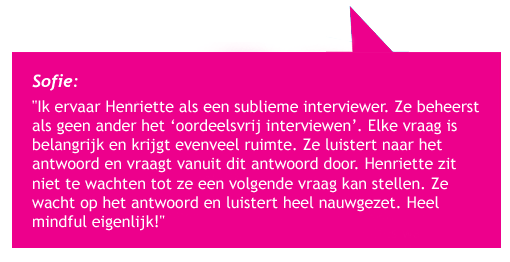 Quote interviewen Sofie
