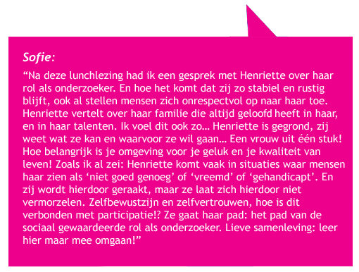 Quote lunchlezing van Sofie